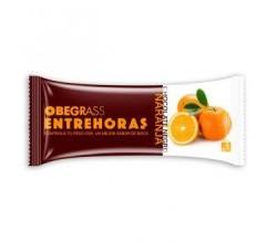 Actafarma Obegrass Entrehoras Chocolate Negro y Naranja  20 Unds
