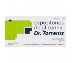 SUPOSITORIOS GLICERINA DR TORRENTS ADULTOS (3.27 G 12 SUPOSITORIOS (BLISTER) )