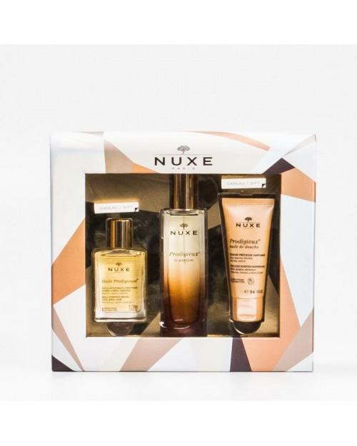Nuxe Cofre Perfume Prodigioso + Aceite y Gel de Regalo